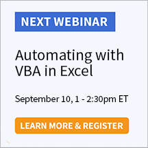 Automating with VBA in Excel