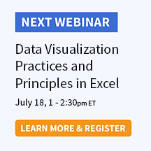 Data Visualization Practices and Principles in Excel
