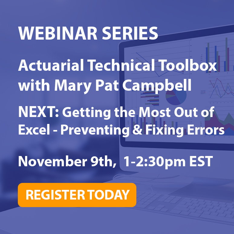 Excel for Actuaries Webinar Series